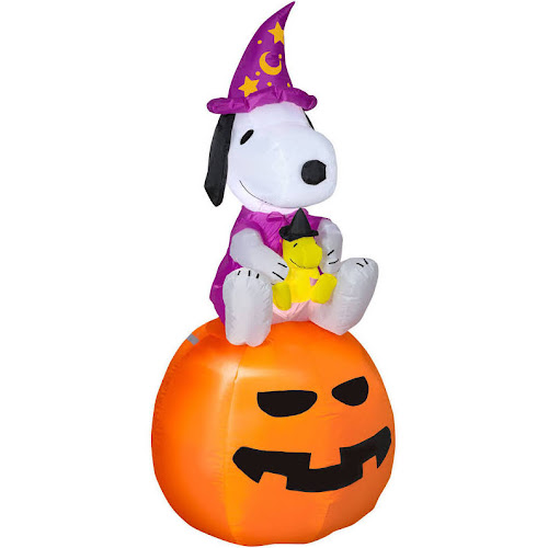 Halloween Airblown Inflatable Snoopy Wizard Woodstock 5\' Tall ...