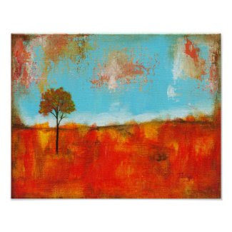 Rapture Abstract Landscape Tree Art Painting Print