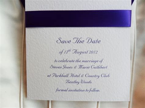 Save The Date Card on White Card, Royal B (more) Save