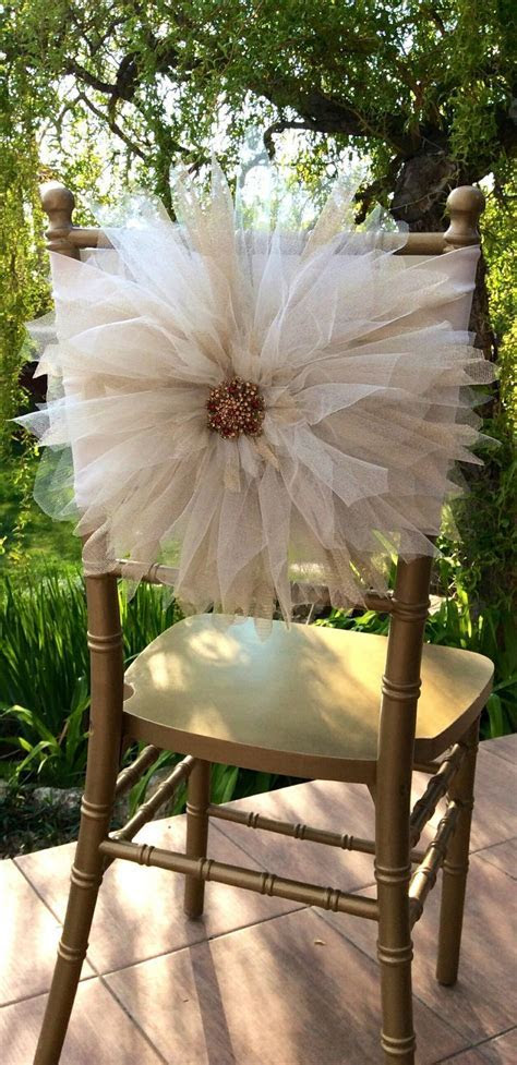 Wedding Chair Décor With Tulle   Crafts   Pinterest