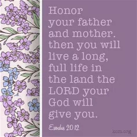 Honor Thy Mother Father Quotes