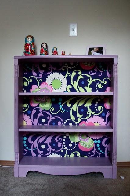 Henrietta Bookshelf w/Mod Podged fabric