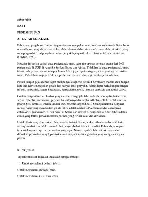 ASKEP FEBRIS PADA ANAK PDF