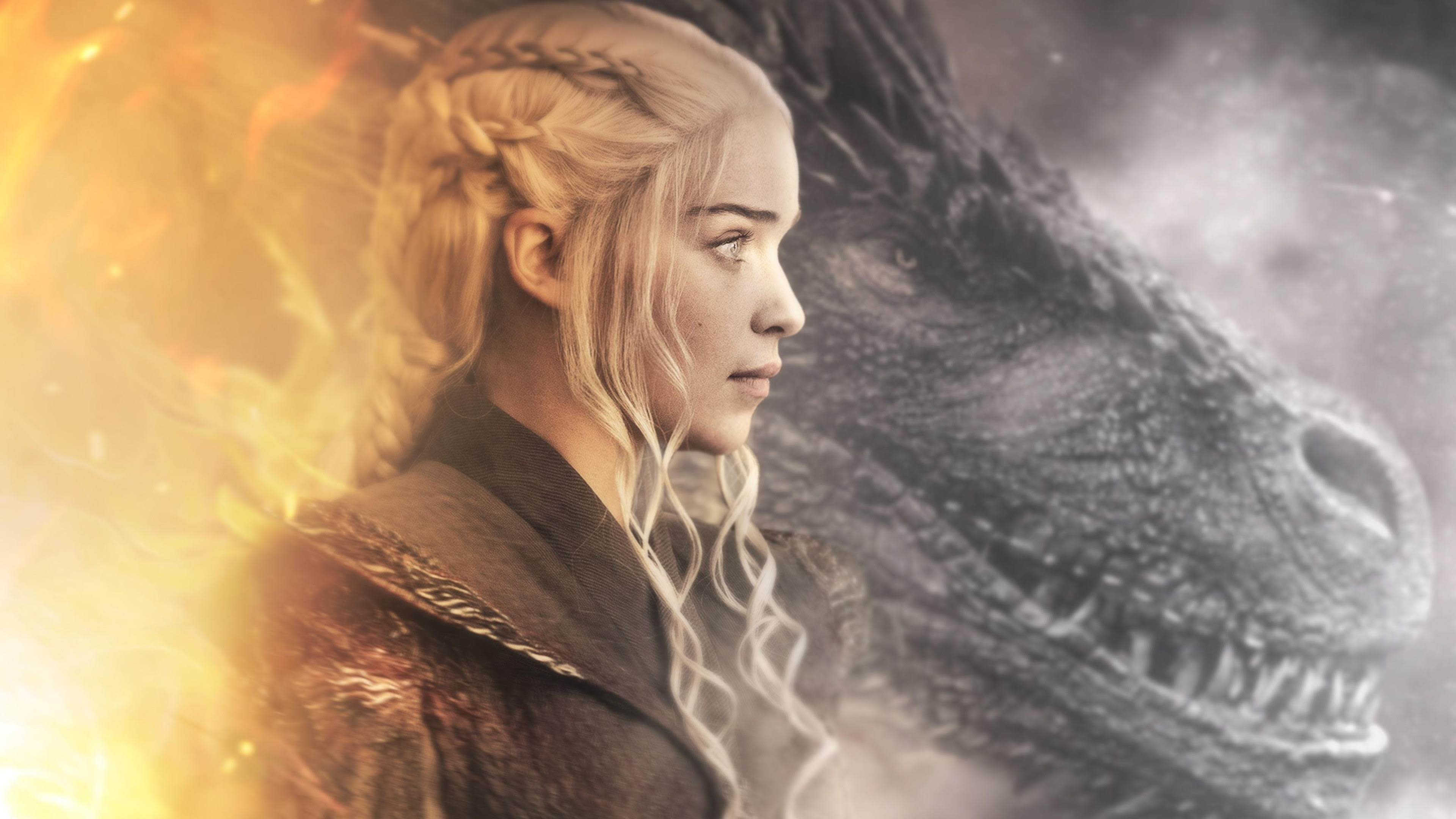 Daenerys Targaryen Dragon In Game Of Thrones 4k Wallpapers Hd