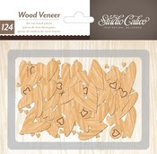 Tiny Wood Veneer Die Cut Hearts - Printshop - Studio Calico