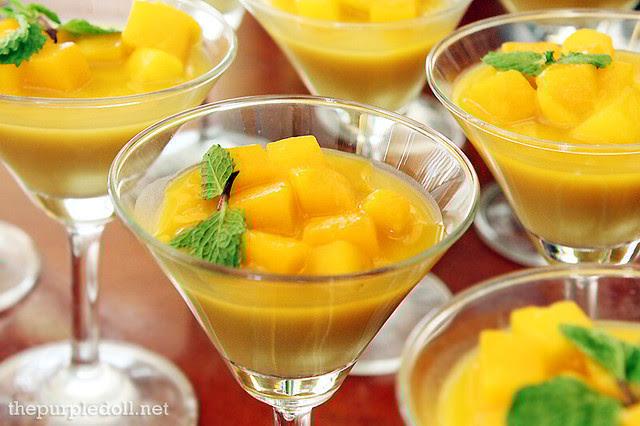 Hyatt Hotel Market Cafe's Mango Pudding
