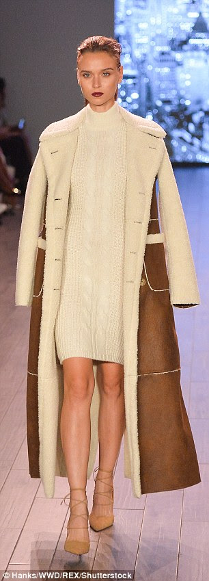 Can go with anything: There were plenty of garments in beige and light brown hues