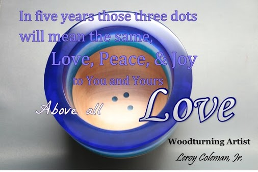 Love in Woodturning Art by Woodturning Artist, Leroy Coleman, Jr. https://www.etsy.com/listing/591954275...