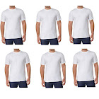 Kirkland Signature Men's Crew Neck T-Shirts, White, 6 Pack