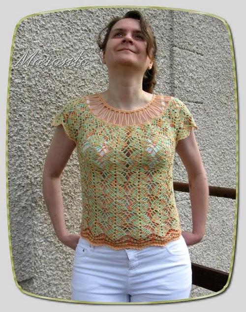 szydełkowa bluzka