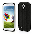 Tyre Pattern Silicone Skin Case for Samsung Galaxy S 4 IV i9500 i9505 - Black - Galaxy S4 i9500 Silicone Case / Galaxy S4 Silicone Cover - Guuds Online Wholesale - Mobile Phone Accessories - Mobile Pa...