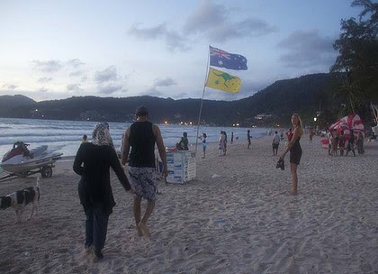 More protection for tourists ... demanded by the Australian government. Above, Phuket's Patong Beach.