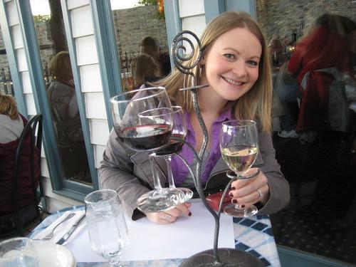 Lisa with wine flight