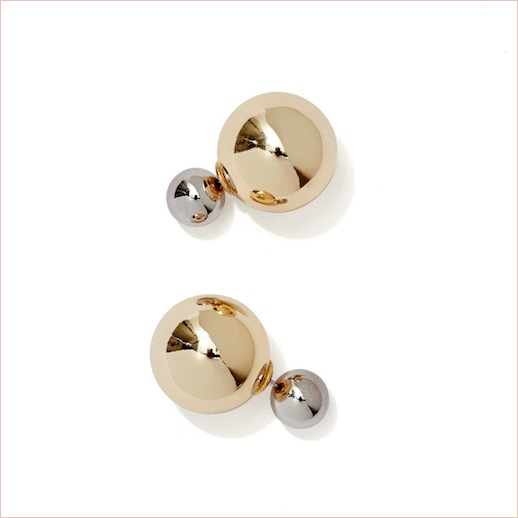 Le Fashion Blog -- Jewelry Crush: Two-Tone Gold & Silver Dior Tribal Inspired Double Ball Such A Baller Earrings -- Via Nasty Gal -- photo Le-Fashion-Blog-Jewelry-Crush-Two-Tone-Gold-Silver-Dior-Tribal-Inspired-Double-Ball-Such-A-Baller-Earrings-Via-Nasty-Gal.png