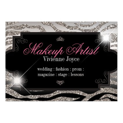 Sparkle & Shine Zebra : Business Cards