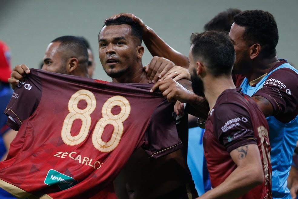 Zé Carlos marcou seis gols em 10 jogos pelo Fortaleza. Atacante deixa clube após rescindir contrato (Foto: JL Rosa/Agência Diário)