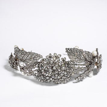 Diamond tiara c. 1850, from the Victoria and Albert Museum