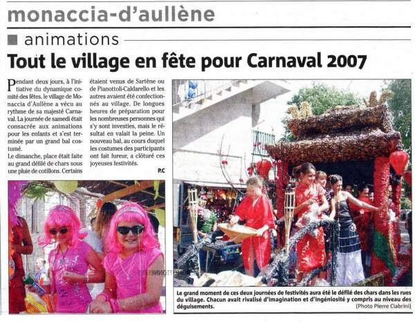 carnaval de Monacia d'Aullène 2007