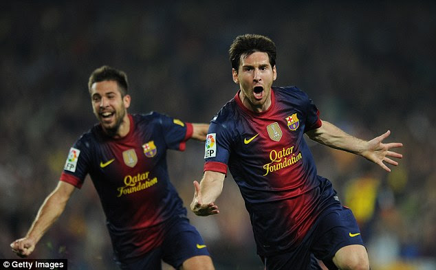 Duo: Barcelona talisman Lionel Messi and his new team-mate Neymar lead the Rest of the World talent