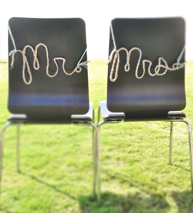 mr and mrs rope letters DIY