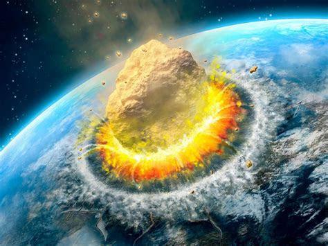 asteroid impact falling asteroid  earth ultra hd