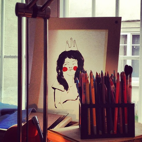 In the atelier by la casa a pois