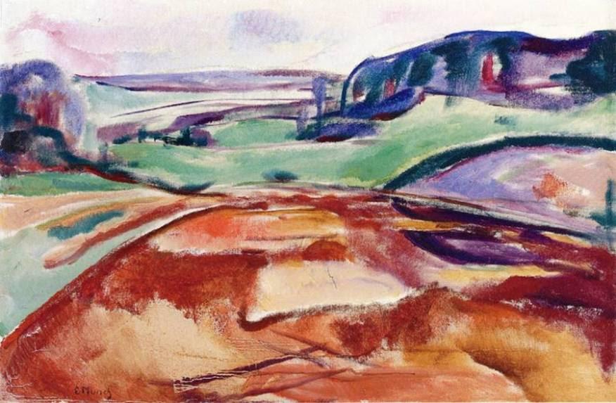 χωράφια τον Μάρτιο - Edvard Munch - 1916