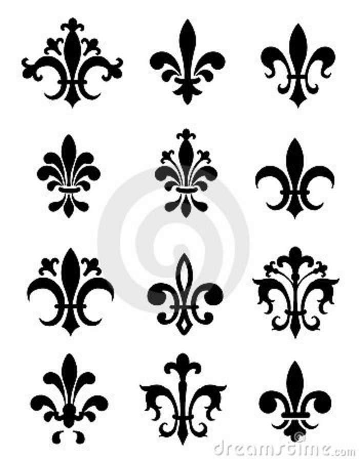 Lovely Fleur De Lis Tattoo Designs