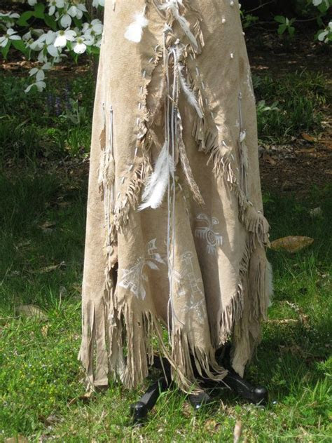 Reserved for Hazma Leather Wedding Dress Native American