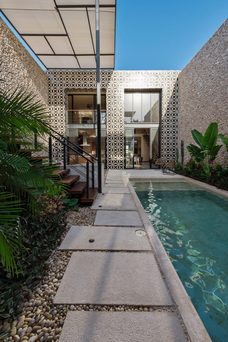 stone and mosaic exterior | Interior Design Ideas