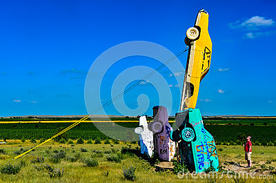 Editorial Stock Photo: Leaning Cars of Carhenge - Alliance, NE