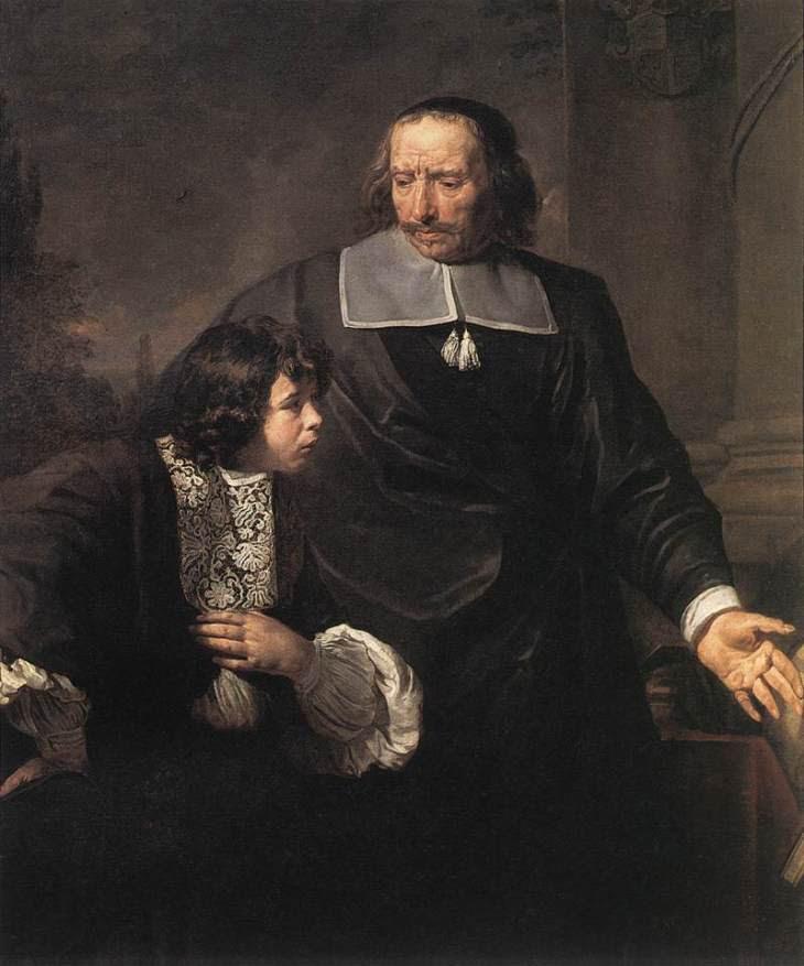Ένας Δάσκαλος κι ο μαθητής του Claude Lefebvre - γύρω στο 1670