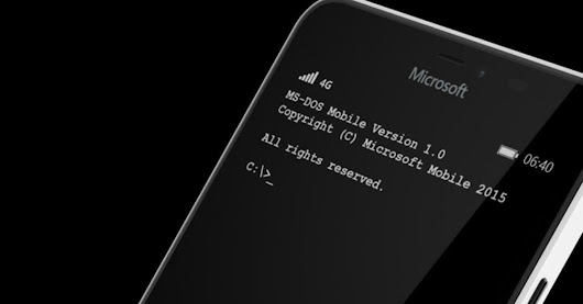 Finally, Microsoft launches MS-DOS for smartphones
