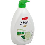 Dove Go Fresh Cool Moisture Body Wash, Cucumber & Green Tea Scent - 34 fl oz bottle