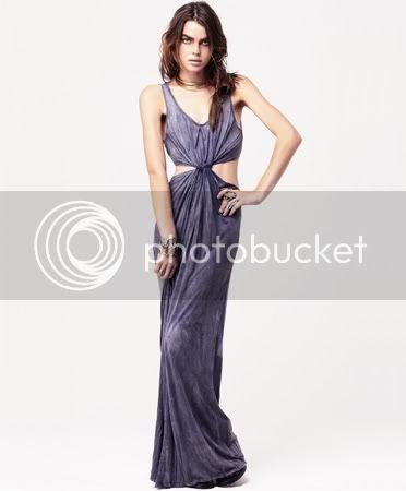 Charcoal Twist Maxi Dress