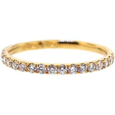 Womens Diamond Wedding Band Ring 18K Yellow Gold 0.35ct 1.8 mm