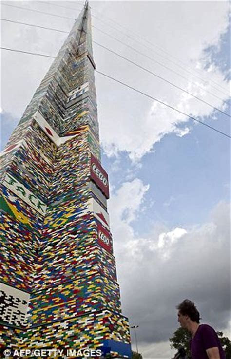 World's largest Lego tower Sao Paulo is a record breaking