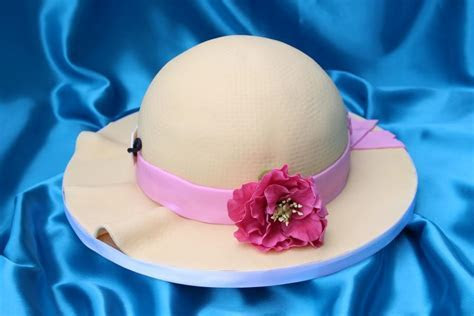 Straw Hat Birthday Cake With Sugar Peony   Blueberry Cakes