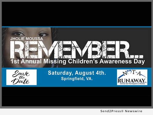 First Annual Regional Missing Children Awareness Day - Saturday, August 4, 2018 | Send2Press Newswire