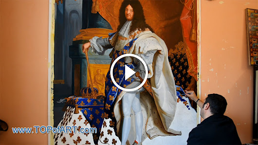 Rigaud - Portrait of Louis XIV - Fine Art Painting Reproduction Video by TOPofART.com