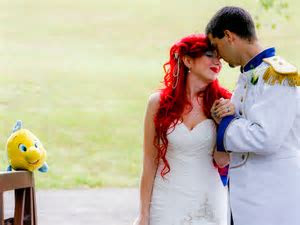 Princess bride: Over the top Disney wedding a viral hit