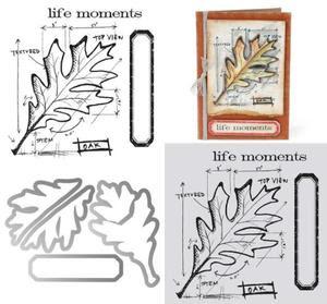 Tim Holtz Leaf Blueprint Framelits with Stamps