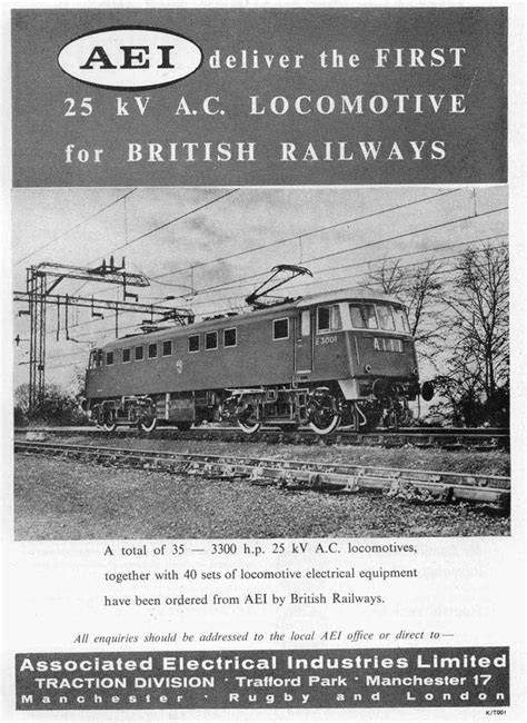 As well as the diesels AEI provided a considerable