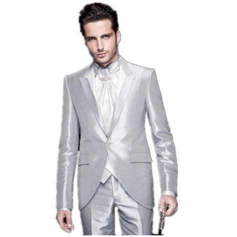 2016 bright silver mens wedding suits tuxedo mens best