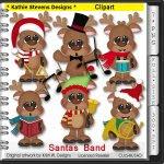 Santas Band Clipart - CU