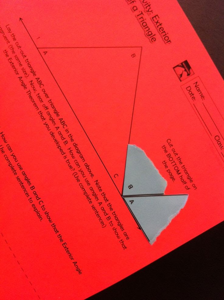 Interior Angles place Of A Triangle issues