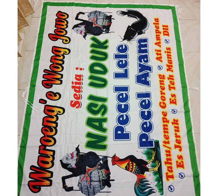Contoh Baliho Pecel Lele - desain banner kekinian