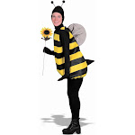 Complete Bumble Bee Adult Costume - 255 - Black - Standard One-Size