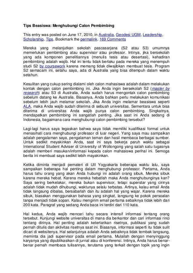 Contoh Essay Untuk Masuk Universitas Contoh View