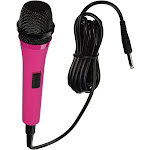 Singing Machine Pink Wired Microphone